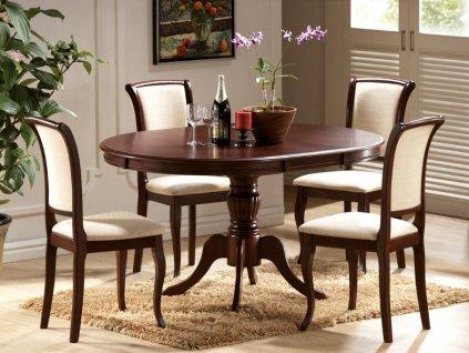 Stůl OLIVIA tmavý ořech
