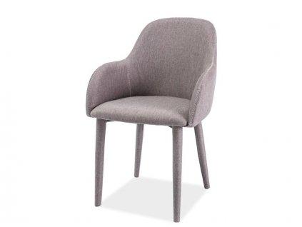 Židle OSCAR šedý materiál