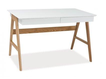 Psací stůl SCANDIC B1 bílý/dub