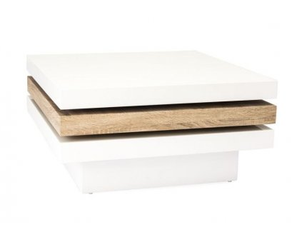 Konferenční stolek TRISTA II bílá/sonoma 80x80x42