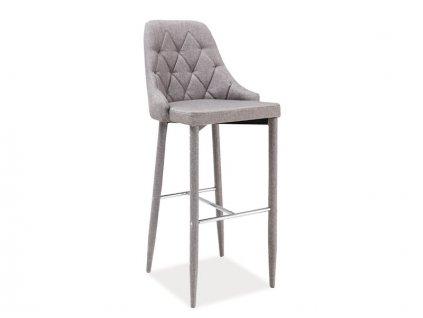 Barová židle TRIX H-1 šedý materiál