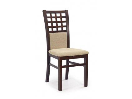GERARD3 židle tmavý ořech / Polstrování: Torent Beige