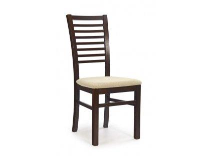 GERARD6 židle tmavý ořech / Polstrování: Torent Beige