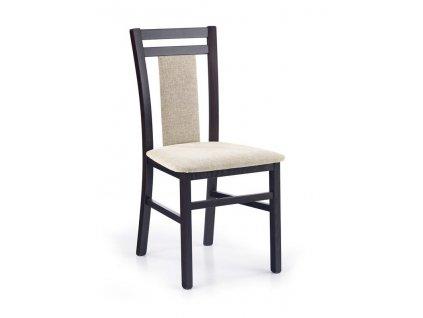 HUBERT8 židle wenge / polstrování: vila 2