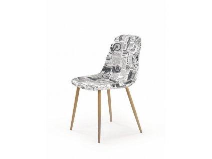 K220 židle čalounění vícebarevné, nohy: dub velbloudí