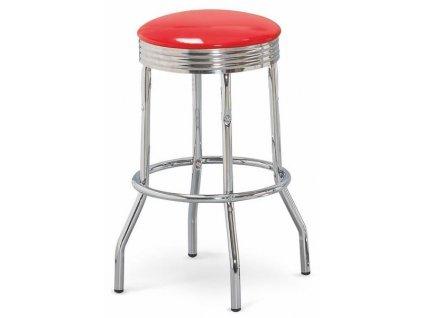 H73 barová židle červená