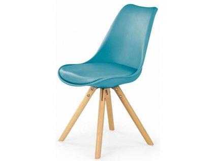 K201 židle tyrkysová