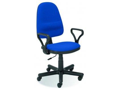 BRAVO židle kancelářská C-6 modrá