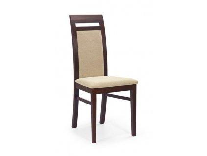ALBERT židle tmavý ořech / polstrování: torent beige