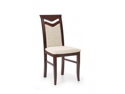 CITRON židle tmavý ořech / polstrování: vila 2