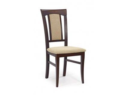 KONRAD židle tmavý ořech / Polstrování: Torent Beige