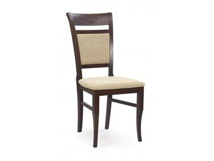 JACOB židle tmavý ořech / Polstrování: Torent Beige