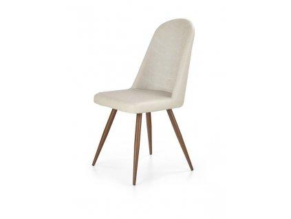 K214 židle tmavě krémová / třešeň antická III