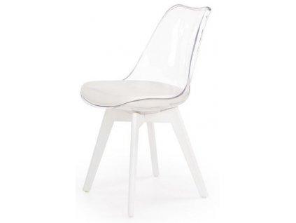 K245 židle čirá / bílá