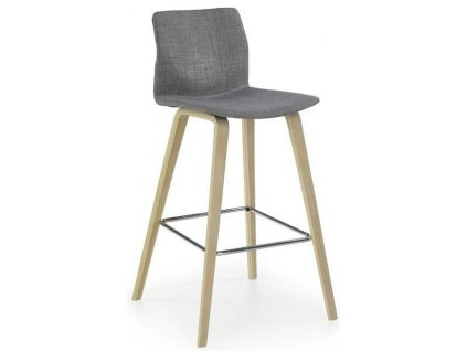 H80 barová židle světlý buk, šedá
