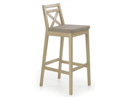 BORYS židle barové vysoké dub Sonoma / Polstrování: Inari 23