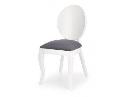 VERDI židle bílo-šedá