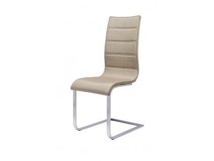 K104 židle béžová / bílá látka