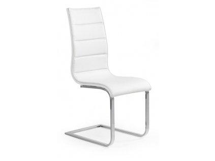 K104 židle bílá / bílá koženka