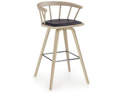 H78 barová židle světlý buk, černá