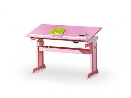 CECILIA psací stůl růžově - bílý