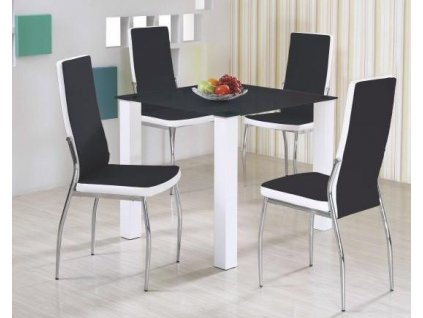 MERLOT čtverec stůl černý