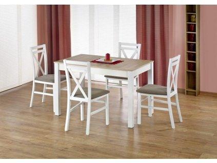 MAURYCY stůl barva dub sonoma / bílý
