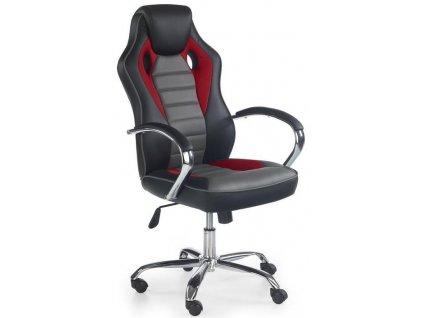 SCROLL křeslo kancelářské černé / červené / šedé