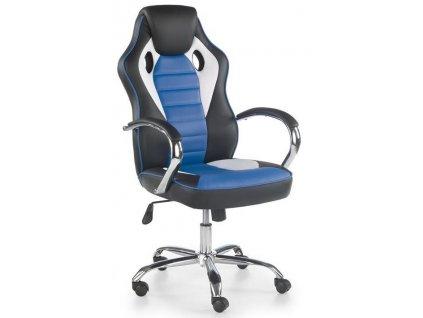SCROLL křeslo kancelářské černé / bílé / modré