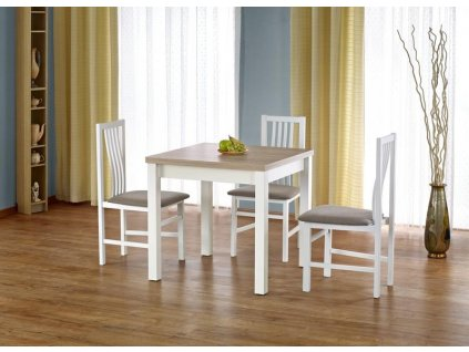 GRACJAN stůl barva dub Sonoma / bílý