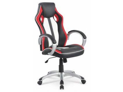 ROADSTER křeslo kancelářské černo-červeno-bílé