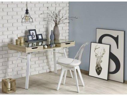 B33 psací stůl dub sonoma-bílý
