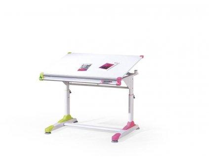 COLLORIDO psací stůl bílo-zeleno-růžový