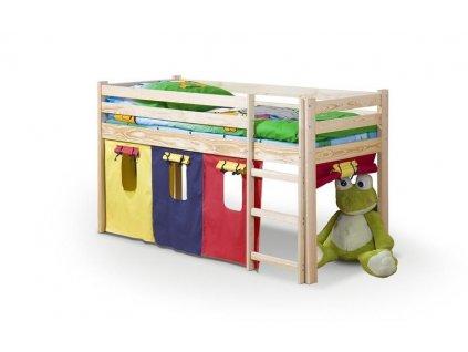 NEO - postel patrová s matrací - sosna