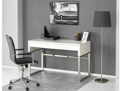 B32 psací stůl bílý-chrom