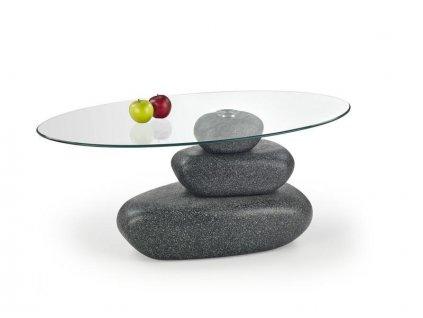 FLAVIA stolek konferenční šedý Stone Efekt
