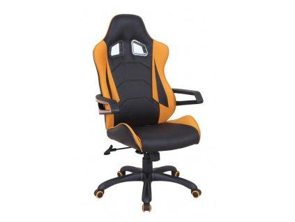 MUSTANG křeslo kancelářské černo - oranžové