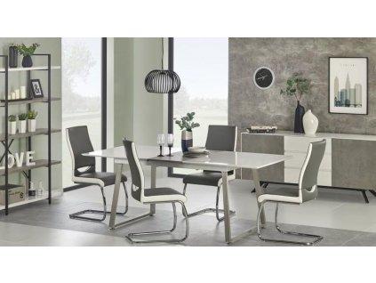 THOMAS stůl rozkládací bílý / beton