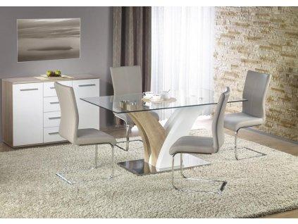 VILMER stůl dub sonoma / bílý