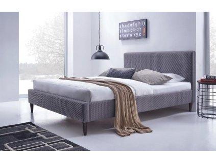 FLEXY postel čalouněná šedá