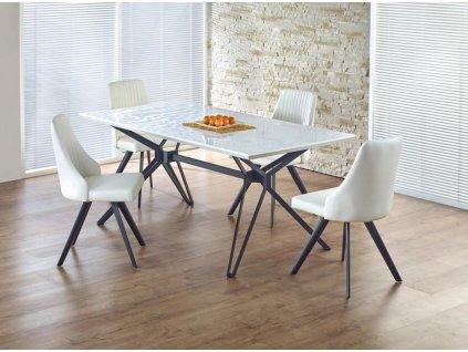 PASCAL stůl bílo - černý