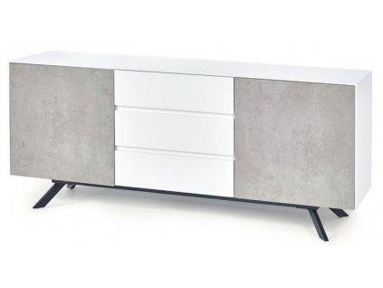 STONNO KM2 komoda bílá / beton