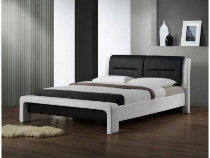 CASSANDRA 160 cm postel bílo - černá