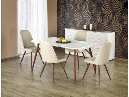 RICHARD stůl rozkládací třešeň / bílý