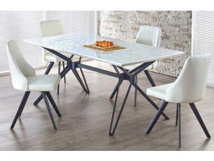 PASCAL stůl rozkládací bílo - černý
