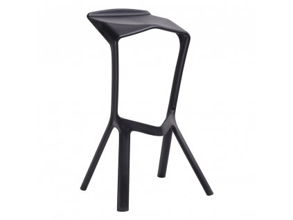 Barová židle MIURA černá polypropylen