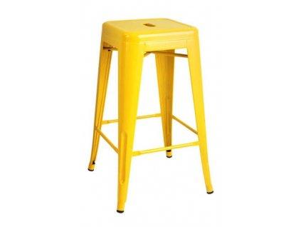 Barová židle TOWER 66 cm žlutá kov