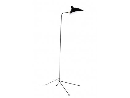 Lampa FLOOR RAVEN kov/černá bílá/3 ramena