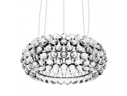 Lustr - lampa závěsná ARIA 50 sklo/akryl/50 cm