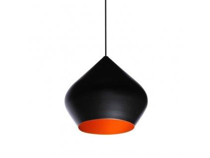 Lustr - lampa závěsná BET SHADE stout kov černá-zlatá